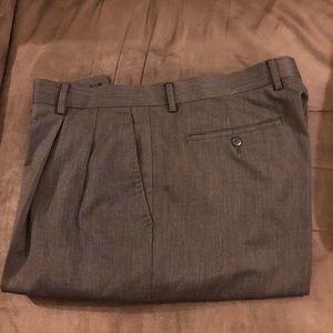 Alan Flusser Olive Green Tic Weave Pants 38x30